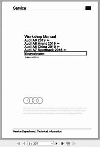 Audi 2020 Body Repair Manual  Workshop Manuals And Wiring Diagrams Dvd