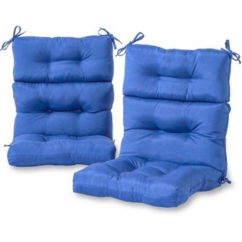 high back patio chair cushions walmart greendale home fashions outdoor high back chair cushions