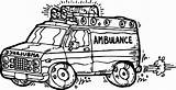 Ambulance Coloring Pages Cartoon Trucks Trains Minivan Drawing Colouring Getcolorings Printable Sheets Cars Getdrawings sketch template