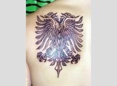 Double headed Albanian eagle tattoo Sick! Shqiponja