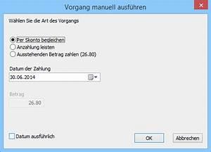 Begleichung Der Rechnung : einen skonto registrieren support cr sus ~ Themetempest.com Abrechnung