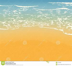 Beach and sand stock illustration. Image of wave, blue ...