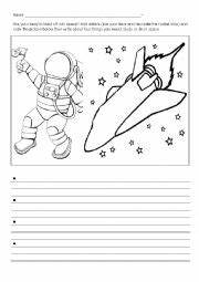 Astronaut Writing Template - Pics about space