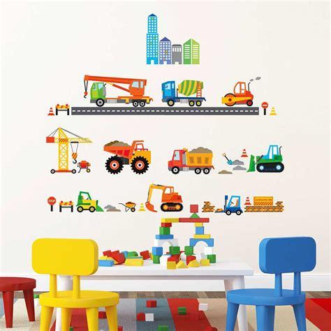 Wandtattoo Kinderzimmer Bagger by Wandsticker Baustelle Baufahrzeuge Wandsticker Kinderzimmer