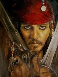 Lina Zol Artwork: Jack Sparrow | Original Painting Oil ...