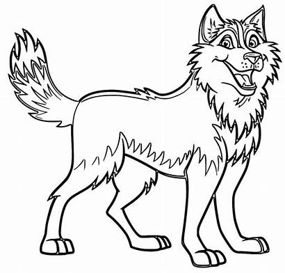 Coloring Pages Husky Dog Puppy Printable Sheets