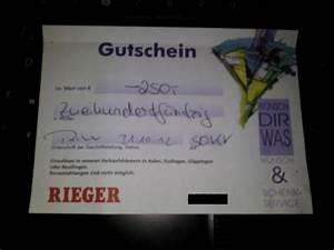 Rieger Möbel Reutlingen : m bel rieger gutschein wert 250 00 euro 823880 ~ Orissabook.com Haus und Dekorationen