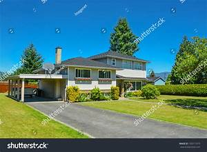 North American Family House Big Front Stock Photo ...