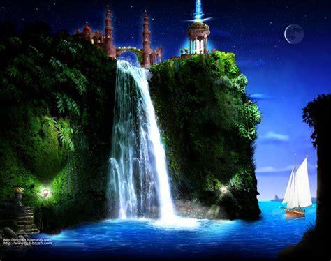 moving waterfall wallpaper   islamic art