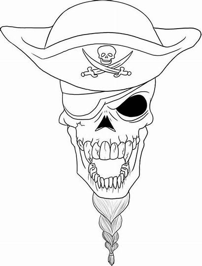 Skull Pirate Coloring Pages Printable Adult Getcolorings