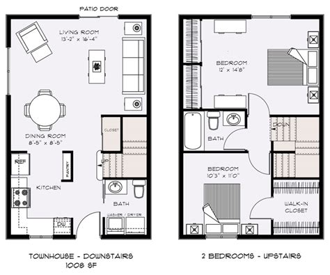 floor plans for small houses with 2 bedrooms two bedroom townhouse floor plans floor plans talent