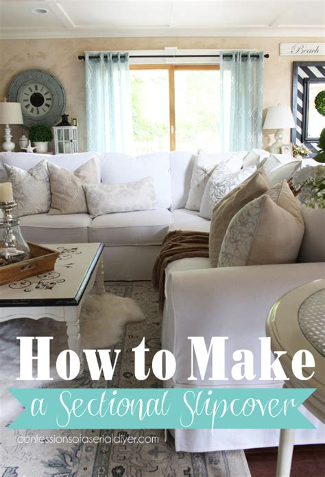 How To Make A Slipcover For A Sectional Sofa how to make a sectional slipcover confessions of a