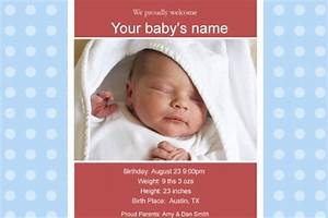 free photo templates baby birth announcement 2 With free online birth announcements templates