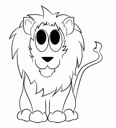 Lion Draw Easy Cartoon Drawing Head Drawings