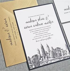 madison new york skyline wedding invitation sample With wedding invitations with new york skyline