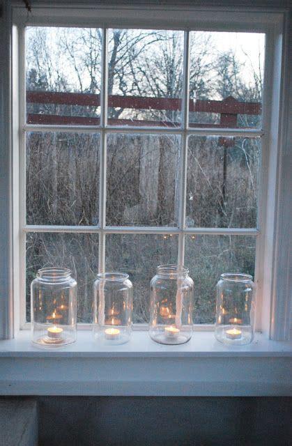 window sill christmas lights over sized jars on the windowsill jar bottle canister crock pinterest jars window and tea