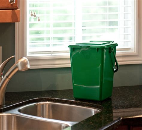 green kitchen trash can 9l kitchen organics kit by bindoctor bin doctor 4031