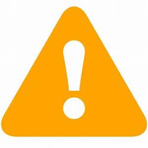 Free orange error icon - Download orange error icon