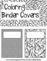 Binder Coloring Covers Blank Sheets Teacherspayteachers Binders Adult Teachers sketch template