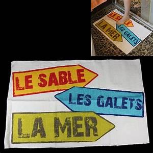 Tapis De Salle De Bain Grande Dimension : tapis de salle de bain original sable galets mer ~ Teatrodelosmanantiales.com Idées de Décoration
