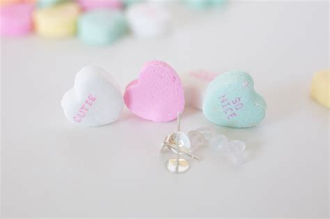 DIY Conversation Heart Earrings