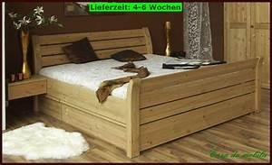 Bett 160x200 Mit Bettkasten : massivholz bett mit bettkasten kiefer schubladenbett bett 160x200 funktionsbett ebay ~ Frokenaadalensverden.com Haus und Dekorationen