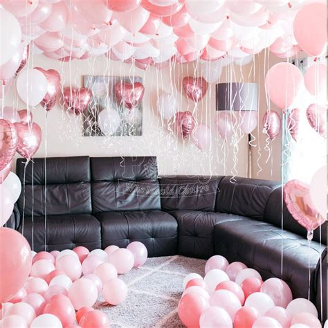 pink hotel surprise party balloon inspiration party