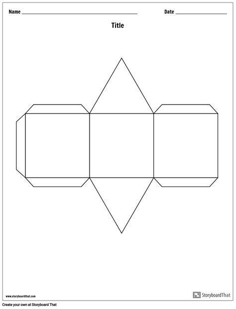 triangular prism story cube template storyboard