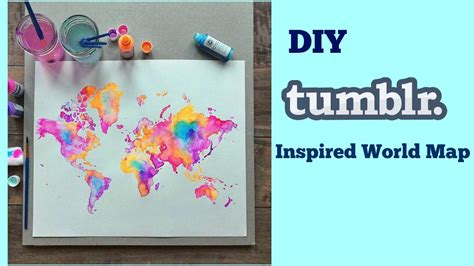 Diy Tumblr Inspired World Map