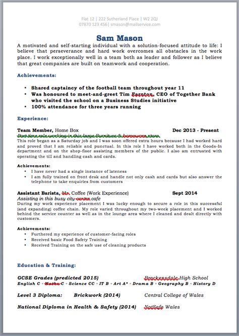 Cv Template For Secondary School Student by Cv Template School Leaver 1 Cv Template Cv Template