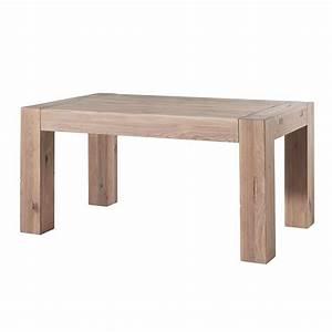 Table Chene Blanchi : table ch ne massif blanchi collection bjorn salon salle a manger table oak table home decor ~ Teatrodelosmanantiales.com Idées de Décoration