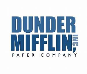"""Dunder Mifflin The Office Logo"" Travel Mugs by caseyward"