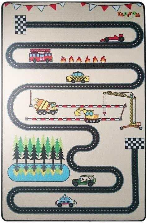 tapitom tapis enfant circuit design 130 x 200 cm