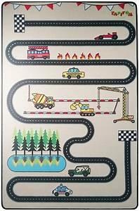 tapitom tapis enfant circuit design 130 x 200 cm With tapis de course avec canapé amovible design