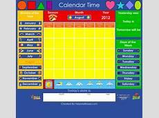 Calendar Learning Center Smartboard by HelpMeRead TpT