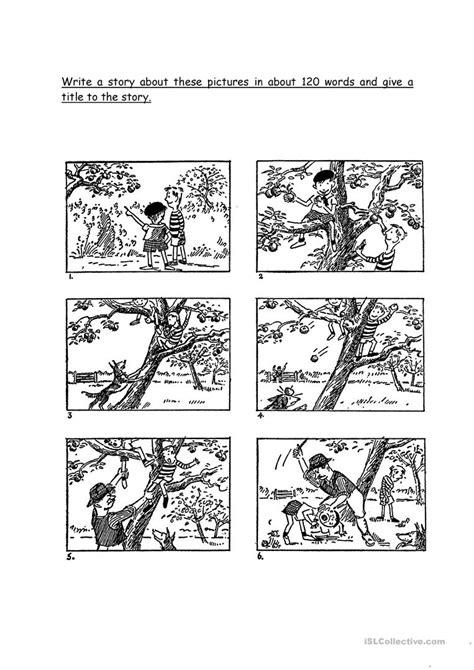 picture composition worksheet free esl printable