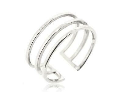 sterling silver midi find adjustable women ring double  band size   ebay