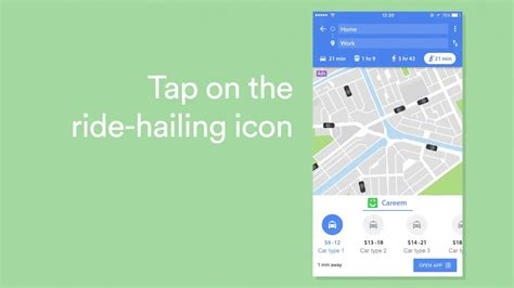 Google Map To Careem App With A Tap