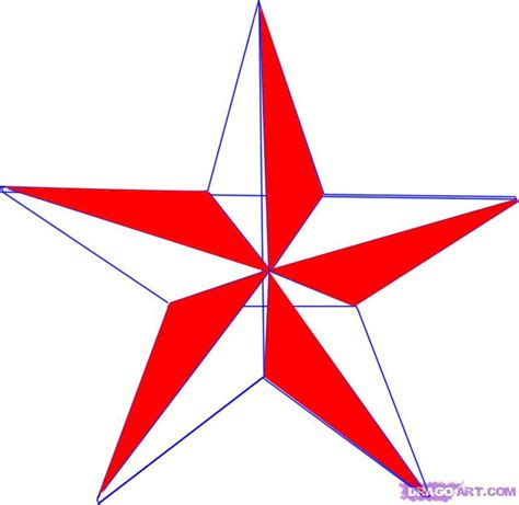 Nautical Star Drawings