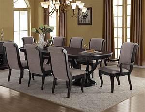 Buy, Mcferran, D1600, Dining, Table, Set, 8, Pcs, In, Black, Gray, Fabric, Online