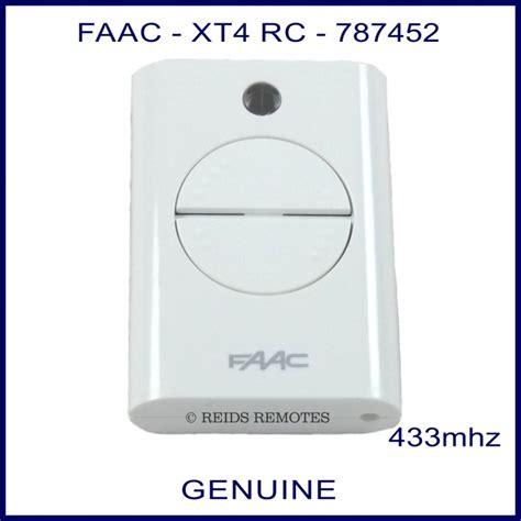 faac xt4 433rc 787452 white 4 button swing slide gate