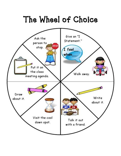 positive discipline for preschoolers pdf here s an alternative wheel of choice fromfirstiefriends 601
