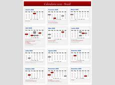 Calendário Lunar 2020 Brasil Calendário