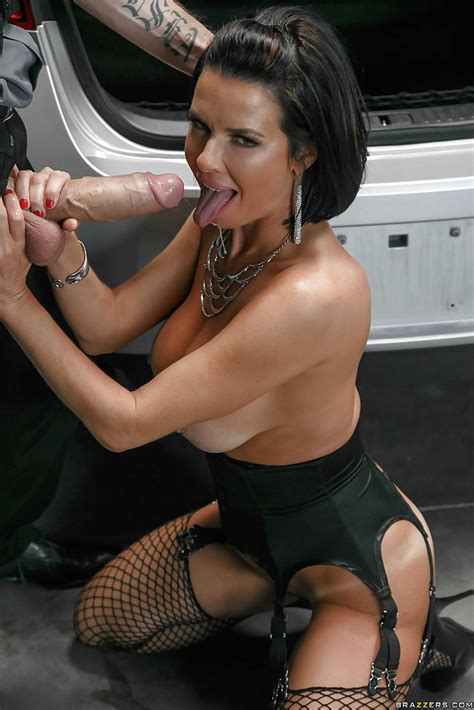 busty milf pornstar veronica avluv taking hardcore anal sex outdoors