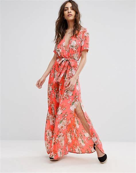 whatever dress 1 boohoo boohoo floral print tie waist wrap maxi dress
