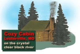 Black River Cozy Cabin, Lesterville, MO   Black River MO