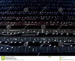 Music notes background stock image. Image of symphony ...