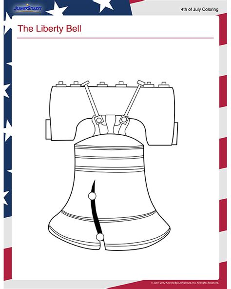 liberty bell view  independence day coloring