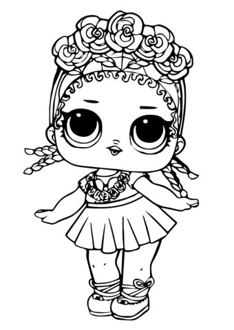 lol doll coconut qt coloring page  printable coloring pages