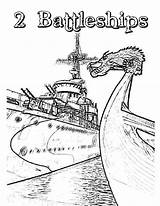 Coloring Carrier Pages Battleship Aircraft Ship sketch template